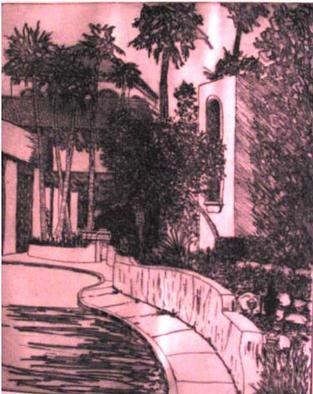 Robin Richard Emrich; El Conquistador, 2000, Original Printmaking Etching, 18 x 22 inches. Artwork description: 241 El Conquistador Resort in Tucson Arizona, this piece sold at auction in May 2005.  Edition is not yet closed, unframed, unmatted $175. 00, framed $250. 00 US.  Usually printed in Blue/ Black.  A must for anyone who has had a special occasion at one of Tucson' s ...