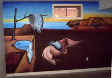 Artist: Rebecca L. Baldwin's, title: Dali Mural wall, 2007, Painting Acrylic