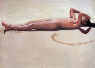 Rebeca Calvogomez; Felicidad I, 2010, Original Pastel, 30 x 20 inches. Artwork description: 241 Happiness, sometimes ephemeral, sometimes eternal; I find you in the sun, the sky, the wind, and the sand in all the smells, touches and visual caresses.    ...