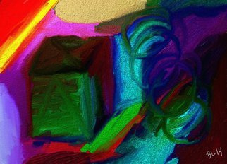 Robert Bobby Lyons; Blocking It, 2014, Original Digital Art, 4 x 12 inches. Artwork description: 241        collection of colors       ...