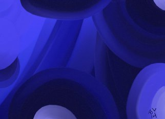 Robert Bobby Lyons; Blue Now, 2014, Original Digital Art, 4 x 12 inches. Artwork description: 241         collection of colors        ...