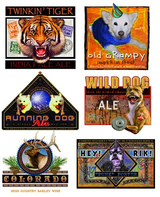 R Christopher Vest; Selection Of Beer Labels, 2007, Original Computer Art, 1 x 1 inches. Artwork description: 241 this is a sample sheet of my graphic design. i brew my own beer, so i needed some labels. voila. i do commercial graphic design and can custom design for any application. contact the artist. ...