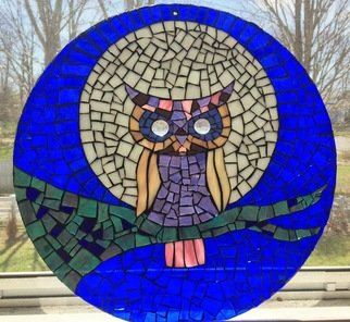 Alicia Tranquilli; Owl Mosaic, 2017, Original Other, 12 x 12 inches. Artwork description: 241 Handmade Owl Mosaic with glass...