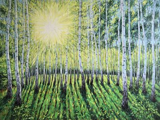 Irina Redine; Birch Grove In Spring, 2019, Original Painting Oil, 101.6 x 76.2 cm. Artwork description: 241 Oil Paint on canvas, stretched and ready to hangSigned on the frontBirch Grove in Spring aEUR