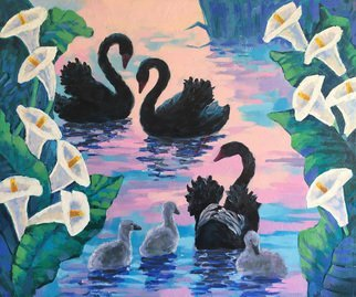 Irina Redine; Swan Lake, 2019, Original Painting Oil, 91.5 x 76.5 cm. Artwork description: 241 Oil Paint on canvas, stretched and ready to hangSigned on the frontSwan Lake aEUR
