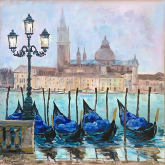 Irina Redine; Venice, 2019, Original Painting Oil, 60 x 60 cm. Artwork description: 241 Oil Paint on canvas, stretched and ready to hangSigned on the frontThis is the original oil painting  Venice  by Irina Redine.It s one of the kind handmade artwork. It was painted with artist quality oil paint.This original artwork signed by the artist on ...