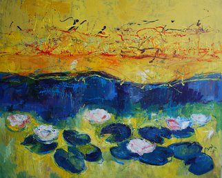 Janusaitis Remigijus; Yellow River, 2012, Original Painting Oil, 100 x 80 cm.