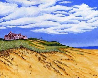 Renee Rutana; A Little Bit Of Paradise, 2006, Original Painting Acrylic, 20 x 16 inches. Artwork description: 241  This is a painting of a house atop a hill in Wellfleet at the Cape ( Cod) . Gallery wrapped canvas with painting extending to the sides. ...