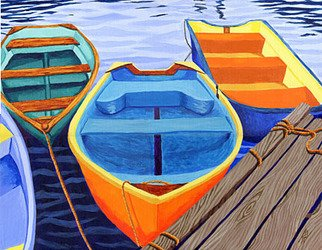 Renee Rutana; In Good Company, 2007, Original Painting Acrylic, 20 x 16 inches. Artwork description: 241  Another painting from my Rowboats series. This was recently sold, but I liked the colors and wanted to show it. ...