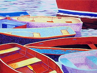 Renee Rutana, Rockport Boats II, 2004, Original Painting Acrylic,    inches