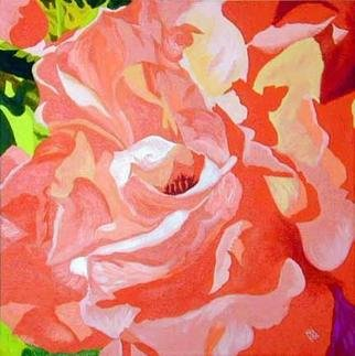 Renee Rutana; True Love, 2006, Original Painting Acrylic, 18 x 18 inches. Artwork description: 241 An up close view of a rose, almost abstract- looking. The colors are even nicer in real life. My camera couldn' t capture the subtle blendings of the colors. This is on a thick ( 1 3/ 8) gallery wrapped canvas with the painting extending out to the ...