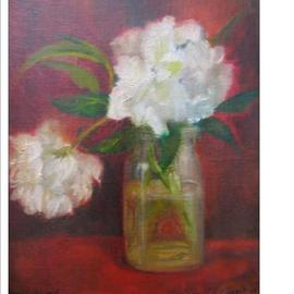 Luisa Cleaves Luisa F. V. Cleaves Gallery, , , Original Painting Oil, size_width{PEONIES_IN_RED-1289307818.jpg} X 24 inches