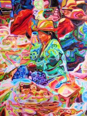 Rossana Currie; Potato Market, 2011, Original Painting Oil, 30 x 40 inches. Artwork description: 241  I love Indian markets with their glorious mix of colors and shapes   ...