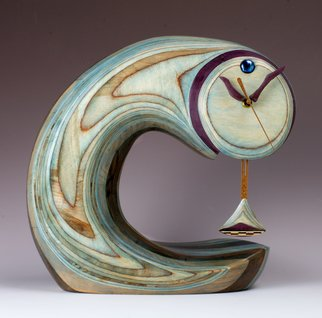 Robert Hargrave; Comet Clock Supreme, 2014, Original Sculpture Wood, 14 x 14 inches. Artwork description: 241  clock ...