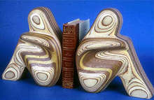 Artist: Robert Hargrave's, title: Figurative Bookends, 2007, Sculpture Wood
