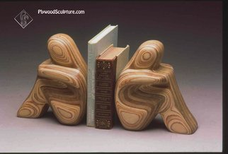 Robert Hargrave; Figurative Bookends, 2015, Original Sculpture Wood, 8 x 8 inches. Artwork description: 241  Bookends  ...