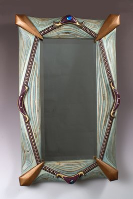 Robert Hargrave; The Magestic Mirror, 2015, Original Sculpture Wood, 24 x 32 inches. Artwork description: 241  Mirror ...