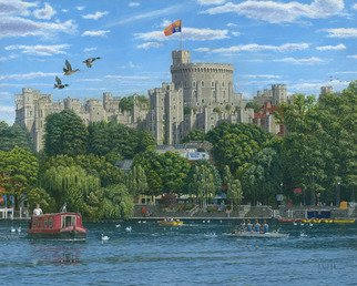 Richard Harpum; Windsor Castle From The R..., 2016, Original Printmaking Giclee, 20 x 16 inches. Artwork description: 241  This painting of Windsor Castle was another jigsaw puzzle commission for Jumbo Games Ltd. Before starting the painting, I visited Windsor and took a large number of photographs both inside and outside the Castle. The Castle tour is fantastic and highly recommended.The Castle is a royal ...