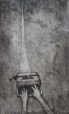 Rachel E Heberling, Strained Connection, 2011, Original Printmaking Etching, size_width{Strained_Connection-1319950657.jpg} X 11.7 inches