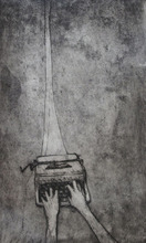 Artist: Rachel E Heberling's, title: Strained Connection, 2011, Printmaking Etching