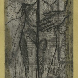 Artist: Rachel E Heberling, title: The Divide, 2013, Original Printmaking Intaglio