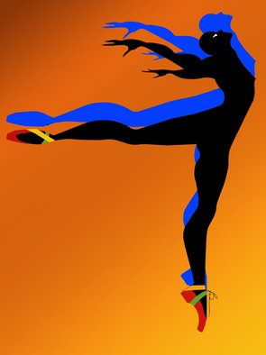 Richard Brown; DANCER, 2011, Original Digital Art, 1 x 40 inches. Artwork description: 241  30x40 digital airbrush painting on canvas ...