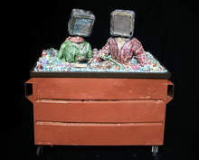 Artist: Richard Hinger's, title: All In the Dumpster, 1995, Assemblage
