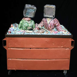 Richard Hinger, All In the Dumpster, 1995, Original Assemblage, size_width{All_In_the_Dumpster-1231385050.jpg} X 90 x  inches