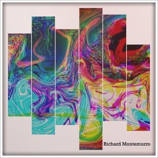 Richard Montemurro; Abstract 211, 2019, Original Computer Art, 11 x 14 inches. Artwork description: 241 abstract, computer art, free form, art, Painting, expressive artA four panel Computer Painting on Art Board. ...