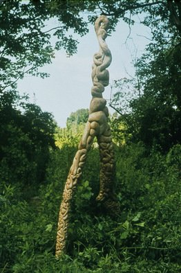 Daniel Richmond; Butternut Core, 1998, Original Sculpture Wood, 144 x 28 inches.