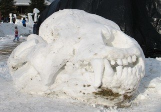 Daniel Richmond; Snow Bear, 2007, Original Installation Outdoor, 12 x 7 feet.