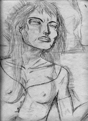 Rick Ratliff; Eva Sleeping, 1998, Original Drawing Pencil, 9 x 12 inches. Artwork description: 241 a sleeping woman is a beautiful subject...
