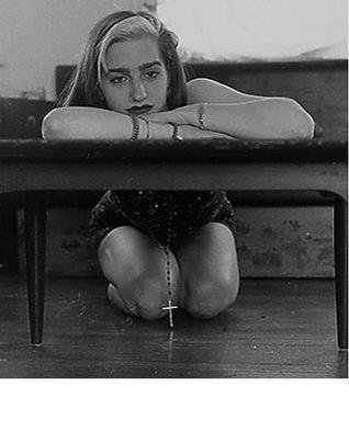 Rick Ratliff; Liz Bored, 2001, Original Photography Black and White, 8 x 10 inches. Artwork description: 241 this is my favorite picture of liz  a lucky accident. a fair representation of a modern magdalina in all of her glories at one instant. . . same as above available in all sizes up to 11x14...