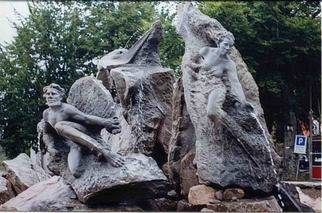 Remo Belletti; La Nuda, 2003, Original Sculpture Stone, 6 x 2 m. Artwork description: 241  monuental fountaine  ...