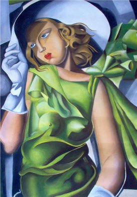 Matrella Rita; Girl In Green Non In Vend..., 2007, Original other, 60 x 70 cm. Artwork description: 241  This is the copy of author of the famous painting of the Painter Tamara De Limpicka ...