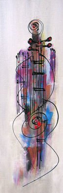 Robert Berry; Lady Guitar Soul, 2013, Original Painting Acrylic, 8 x 24 inches. Artwork description: 241  The Art of Jazz on canvas using acrylic and cern relief outliner paint. ...