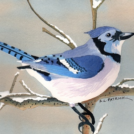 Ralph Patrick, , , Original Watercolor, size_width{Blue_Jay-1401726425.jpg} X 6.7 inches