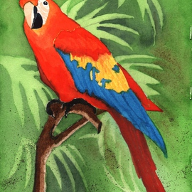 Ralph Patrick, , , Original Watercolor, size_width{Parrot-1401736375.jpg} X 7.5 inches