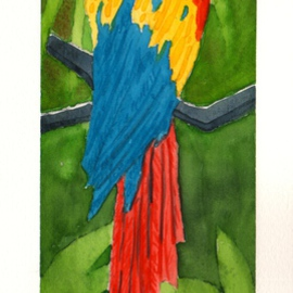 Ralph Patrick, , , Original Watercolor, size_width{Parrot_2-1401736480.jpg} X 9.5 inches