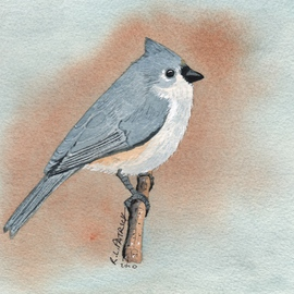 Ralph Patrick, , , Original Watercolor, size_width{Tufted_Titmouse-1401736710.jpg} X 7 inches