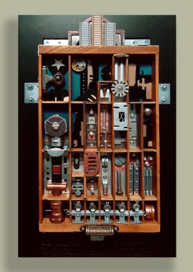 Roberta Masciarelli; Metropolis, 2013, Original Mixed Media, 15 x 24 inches. Artwork description: 241  Mixed media: created with 80% of found objects plus hardware assemblageMore views & info: