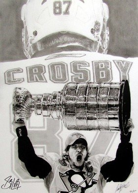 Robb Scott; The Kid Is Good, 2010, Original Drawing Pencil, 24 x 32 inches. Artwork description: 241  This is a limited edition pencil drawing of Sidney Crosby. 87 prints were created and each was hand signed by Sidney Crosby and myself. Each comes with a certificate of authenticity from Frameworth. ...