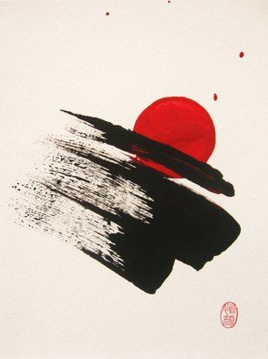 Roberto Prusso; Sai Totsunyu Sokudo De, 2013, Original Painting Ink, 9 x 12 inches. Artwork description: 241  original on 140 lb Strathmore paper: Brush/ Ink/ acrylic.  Sumi- e. ( at re- entry speed ) .  ...