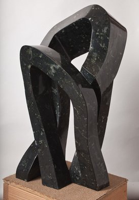Robin Antar; embrace, 2012, Original Sculpture Stone, 17 x 36 inches. Artwork description: 241 embrace, 2 people, stone, art, ...