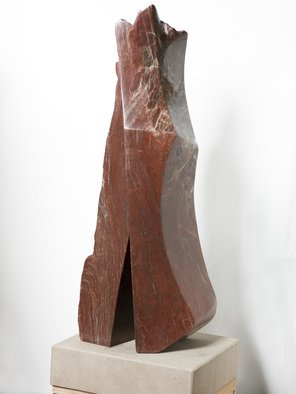 Robin Antar; him and her, 2009, Original Sculpture Stone, 12 x 34 inches. Artwork description: 241 carved out of a rare piece of alabaster, figures, male, female, relationships...