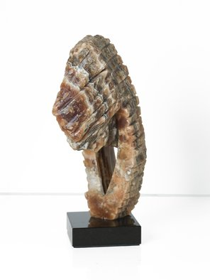 Robin Antar; sea horse, 2009, Original Sculpture Stone, 6 x 13 inches. Artwork description: 241 brown onyx, a rare piece, onyx, stone, art...