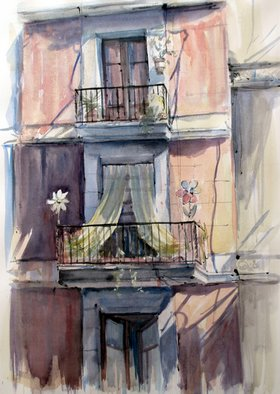 Jean-Yves Robles; Fenetre, 2009, Original Watercolor, 75 x 55 cm.