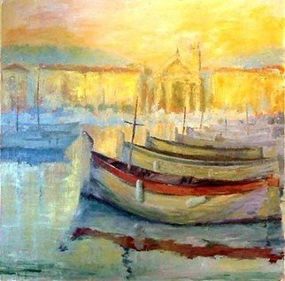 Jean-Yves Robles; Nice, 2008, Original Painting Acrylic, 100 x 100 cm. Artwork description: 241  Port de Nice ...