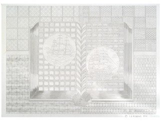 Robert Robbins; Book Of Ships, 1989, Original Illustration, 30 x 22 inches. Artwork description: 241  Book,  ships,  illusion,  page,  designs ...