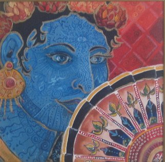 Samantha Rochard; Blue Deity, 2005, Original Painting Acrylic, 12 x 12 inches. Artwork description: 241  The Creative spirit touches me gently, and I recieve transference of the GREATNESS. ...